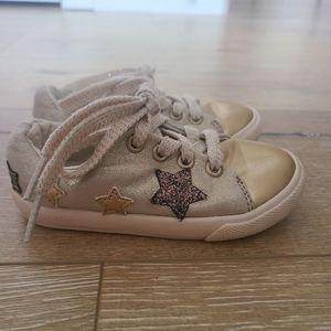 (2/$15) Cat & Jack Golden Star Sneakers